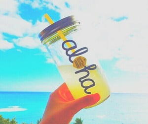 Aloha, summer, and drink image