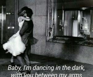 baby, dark, and music image