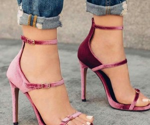 sandal and pink velvet image