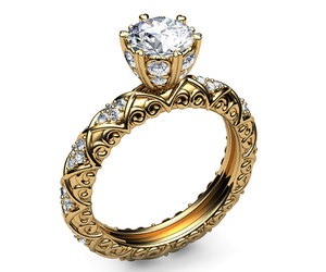 etsy, wedding ring, and solitaire image