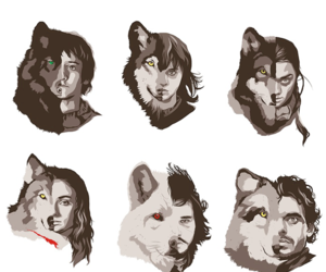 game of thrones, wallpaper, and wolf image