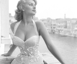 sophia loren, vintage, and black and white image