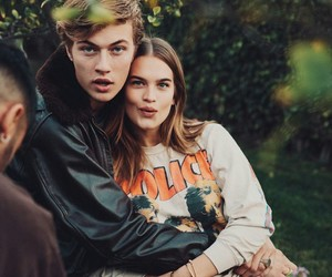 couple, lucky blue smith, and model image