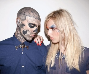 model, tattoo, and zombie boy image