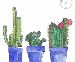 cactus, deco, and flower image