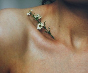 flowers, grunge, and skin image