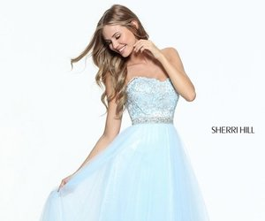 sexy prom dress, sherri hill 51045, and lace tulle beads dress image
