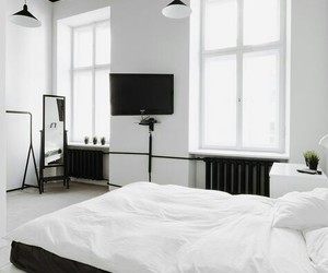 white, black, and room image