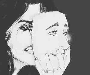 sad, mask, and cry image