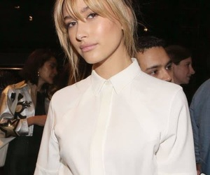 bangs, blonde, and blouse image