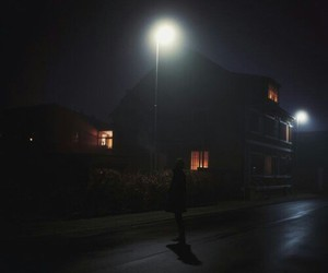 dark, lonely, and nights image