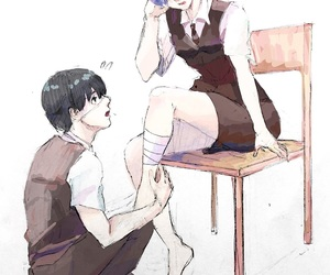 bandages, comfort, and tokyo ghoul image