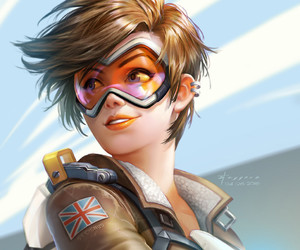 overwatch, tracer, and art image