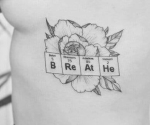 tattoo, flowers, and breathe image