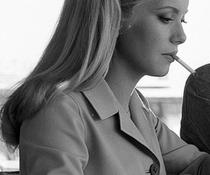 catherine deneuve and cigarette image