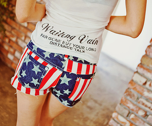 american flag and shorts image
