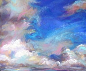 art, blue, and cloud image