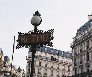 metro, paris, and building image