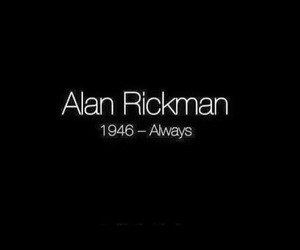 alan rickman, always, and harry potter image
