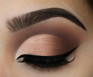 eyebrows, eyeliner, and gold image