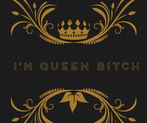 bitch, queen bitch, and pastel quotes image