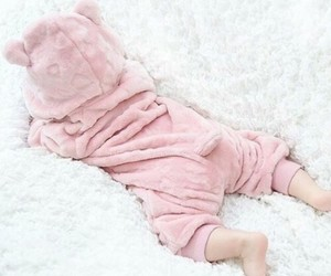 adorable, baby, and pink image