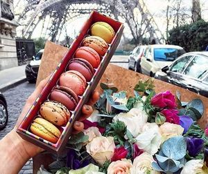 flowers, food, and paris image