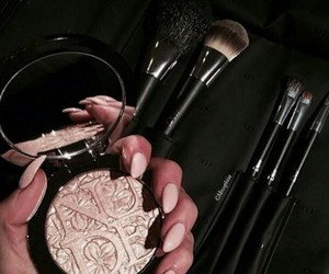 makeup, nails, and Brushes image
