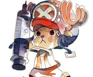 one piece, chopper, and manga image