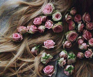 beautiful, roses, and haïr image