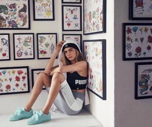 puma and girl image