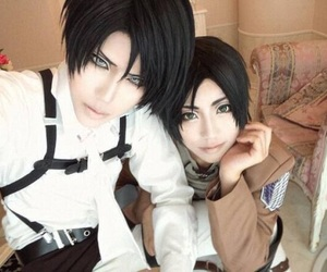 cosplay, levi, and attack on titan image