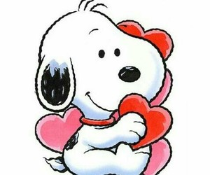snoopy, valentine, and Valentine's Day image