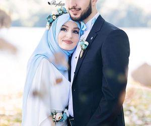 dress, hijab, and white dress image