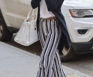 striped palazzo pants image