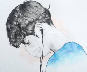boy drawing, art cute, and hair sky image