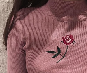 pink, girl, and rose image
