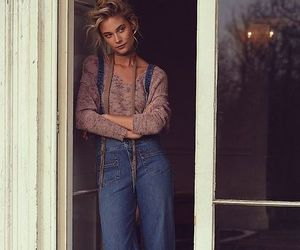 overall, flare jeans, and denim overall image