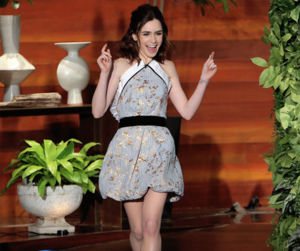 lily collins and the ellen show image