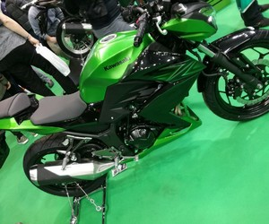 green, kawasaki, and motorcycle image