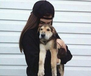 black, girl, and dog image