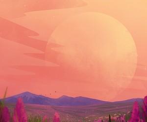 art, background, and orange image