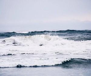 beach, pale, and sea image
