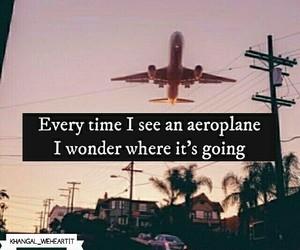 aeroplane, airplane, and alone image
