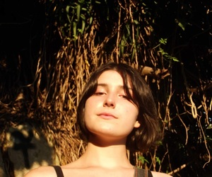 forest, model, and short hair image