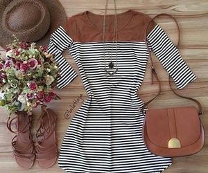brown, dress, and fashion image