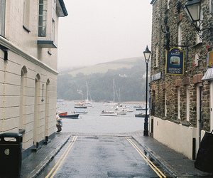 sea, street, and boat image