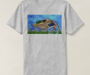 apparel, graphic tees, and mallard duck image