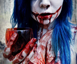 blood and blue hair image