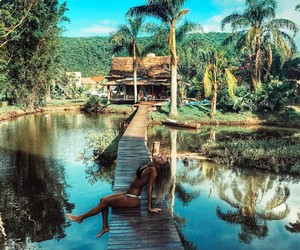 girl, paradise, and relax image